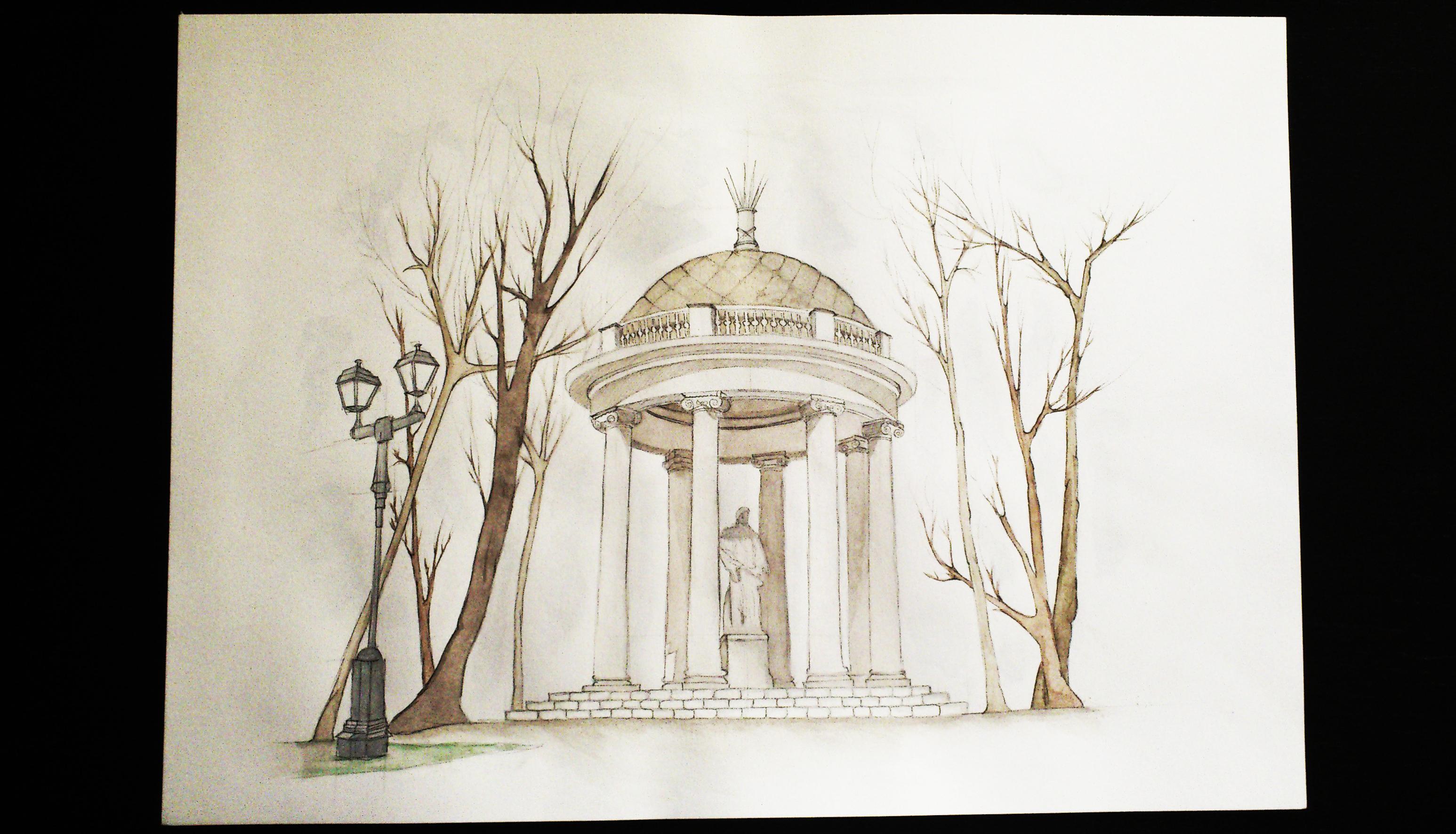 Alcove (watercolor)