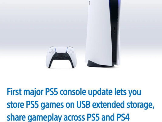 PS5 April Update brings new storage options and social features