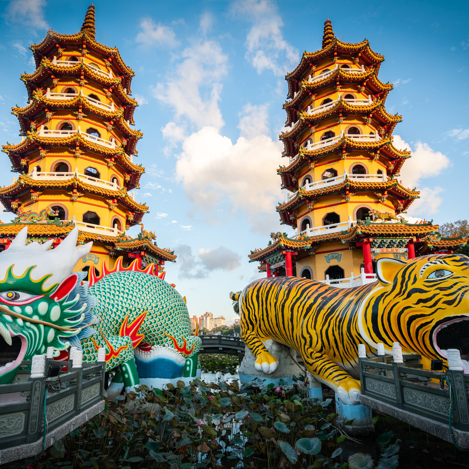 Dragon and Tiger Pagodas - Kaosiung, Taiwan