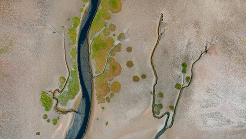 Stream arteries on a flood plain - Walvis Bay, Namibia