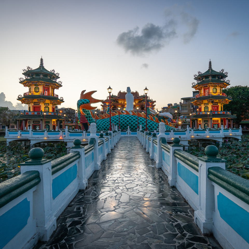 A temple in Southern Taiwan - Kaohsiung, Taiwan