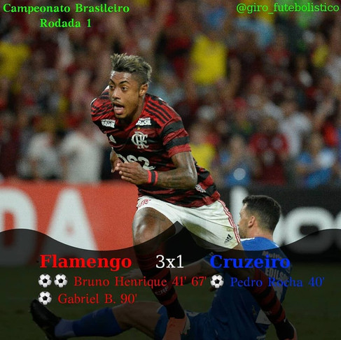 Flamengo vence o Cruzeiro, de virada, na estreia do Campeonato Brasileiro 2019.