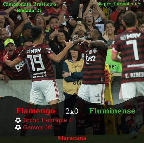 Com superioridade técnica evidente, o Flamengo vence o Fluminense e aumenta a distância da liderança