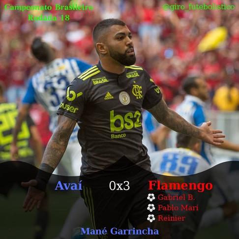 Com mais uma exibição de gala, o Flamengo goleia o Avaí, em Brasília, no Mané Garrincha