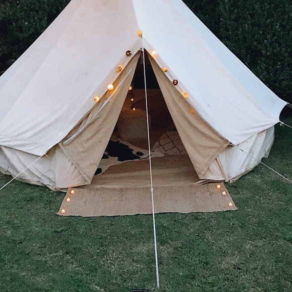 Bell tent dusk vibes!