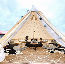 Gorgeous Family Glamping bell tent hire package, set up by Melbourne Glamping