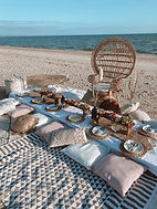 Our beautiful Boho Pallet Picnic set up by the team at Melbourne Glamping