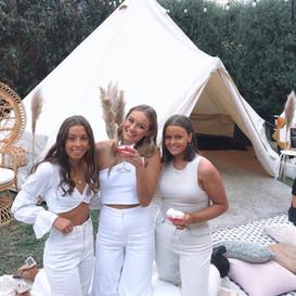 Girls enjoying their glampout