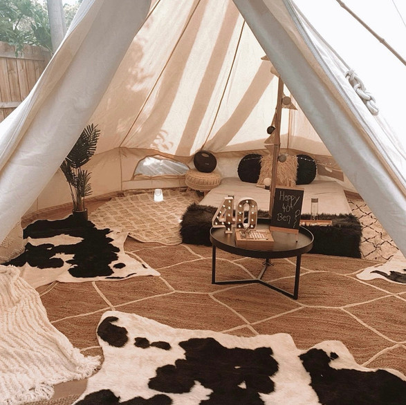 Cow Print Glamping Dream!