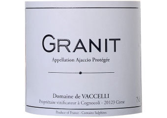 "Vaccelli, ""Granit"" Rouge 2016"