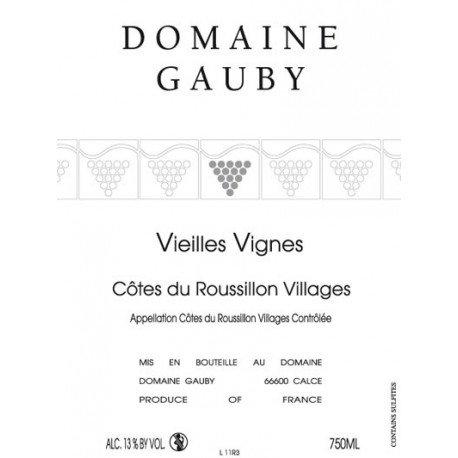 """Gauby, """"Vieilles Vignes"""" Rouge 2013"""