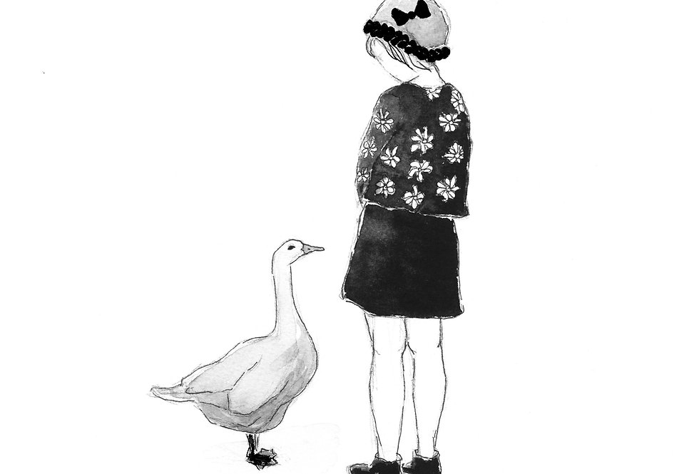 Girl and Duck