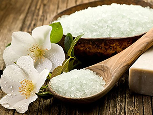 Mineral Bath Salts Infused with Chamomile and Lavender