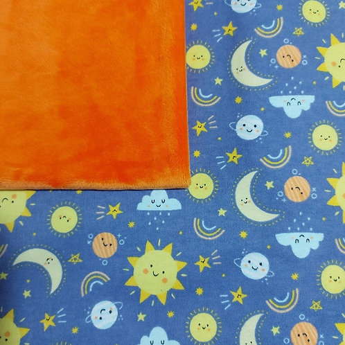 PERSONNALISÉE: Doudou câlins et soins lune/orange