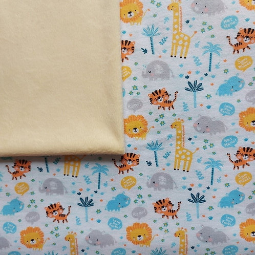 Doudou câlins et soins girafes/jaune