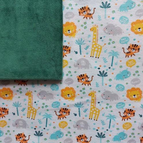Doudou câlins et soins girafes/vert