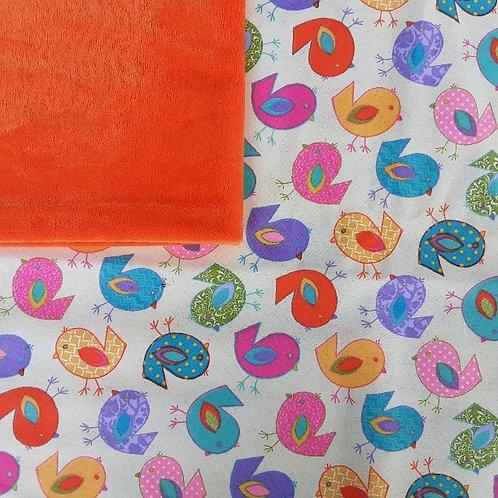 Doudou câlins et soins Oiseaux/orange