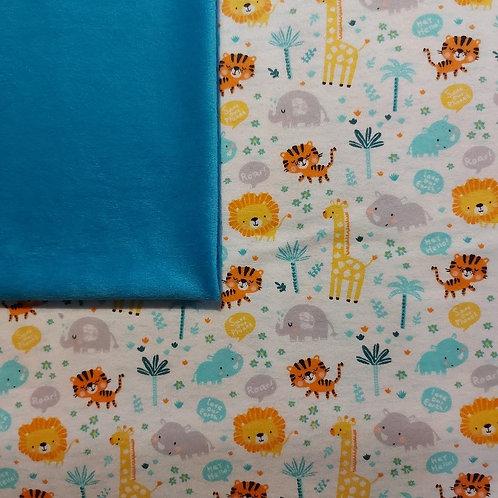 Doudou câlins et soins girafes/turquoise