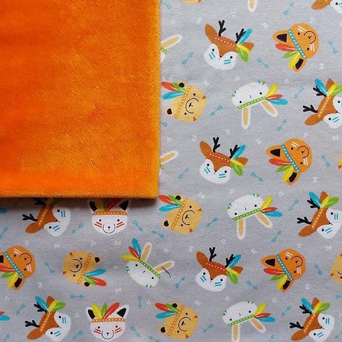 PERSONNALISÉE: Doudou câlins et soins indiens/orange
