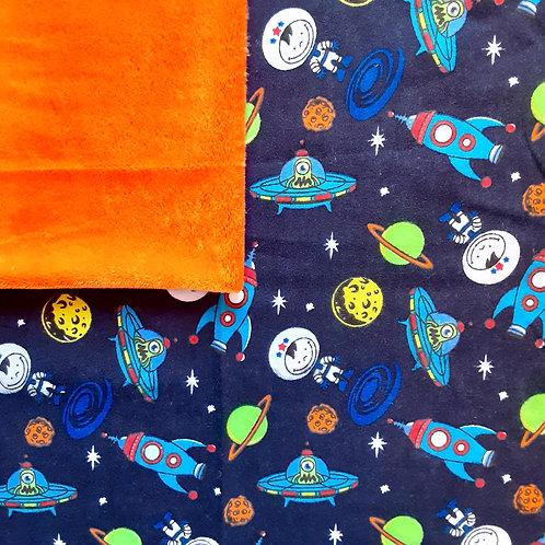 PERSONNALISÉE: Doudou câlins et soins Espace/orange
