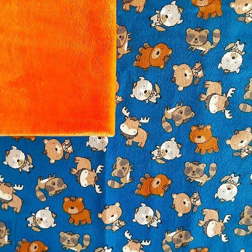 PERSONNALISÉE: Doudou câlins et soins forêt/orange