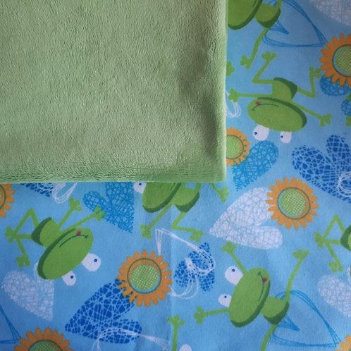 Doudou câlins et soins grenouilles/vert