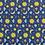 Thumbnail: Doudou câlins et soins lunes/bleu