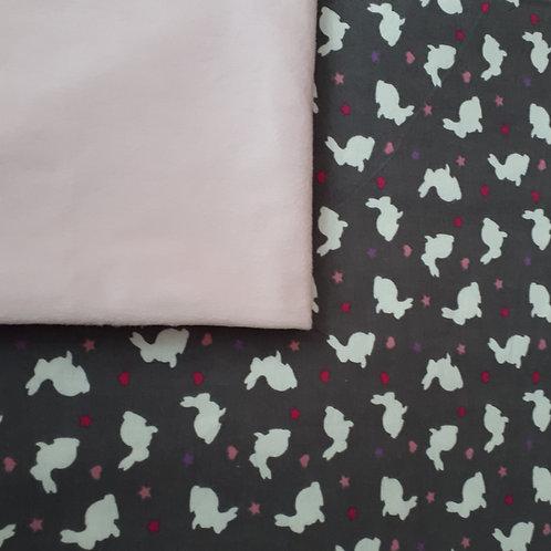 Doudou câlins et soins Lapins/rose