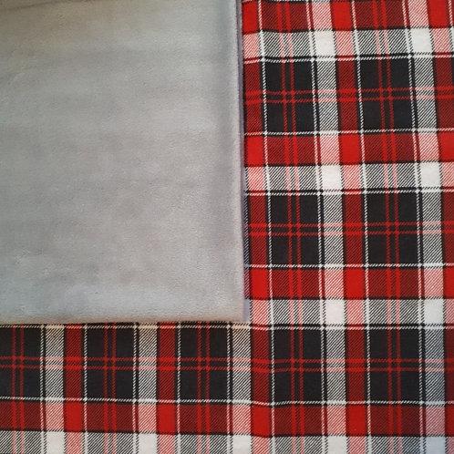 Doudou câlins et soins Écossais/gris