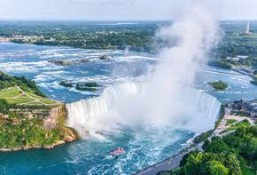 Niagara Falls Aerial View, Canadian Fall