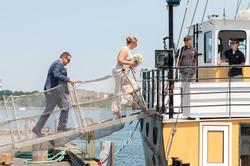 Liz & Rob board the Tall Ship Silva