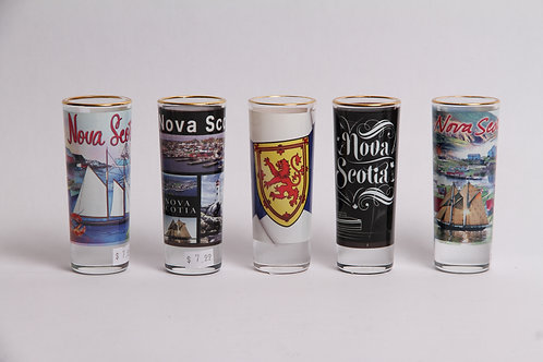 Shooter Glass w Nova Scotia Motif