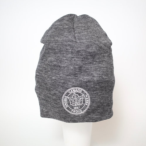 Two Layer Toque in Charcoal