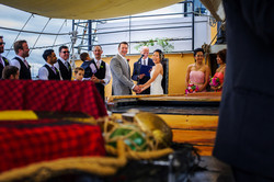 Sharing vows & laughs aboard the Silva