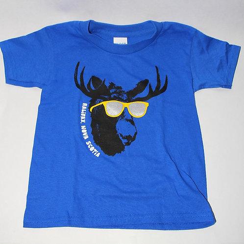 Sunglasses Moose Blue Kids Shirt