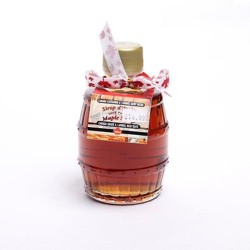 Maple Syrup in Barrel Shaped Bottle