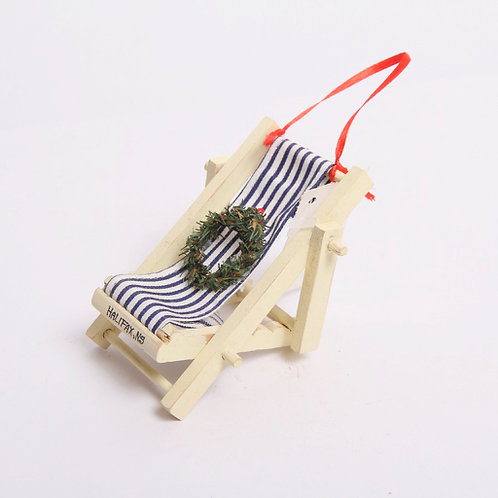 Cabana Chair Christmas Ornament