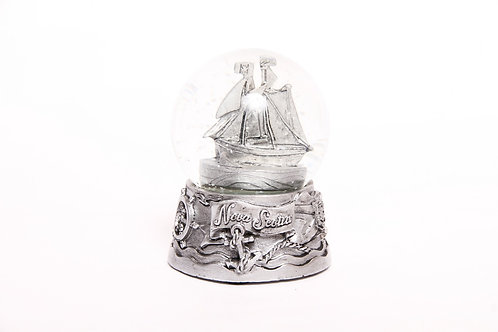 Snow Globe with Silver Base