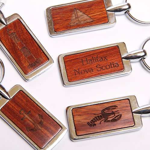 Wooden Keychain with Engraving