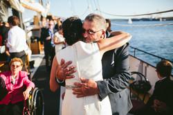Wedding aboard the Tall Ship Silva
