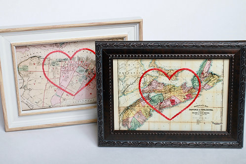Embroidered Vintage Map