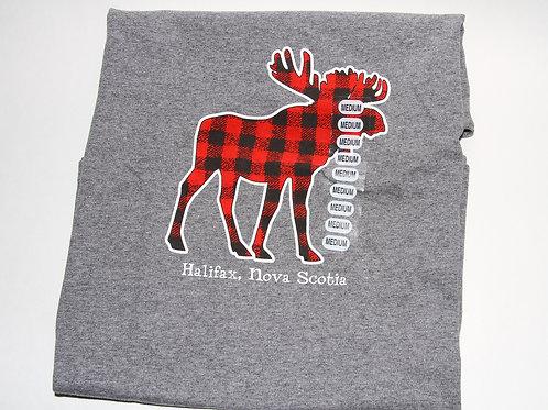 Plaid Moose Ladies Tee