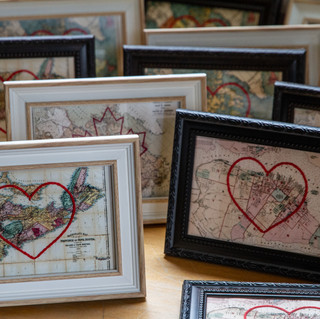 Handmade Framed Maps