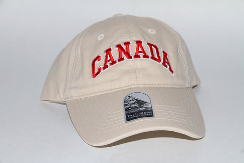 Beige Ball Cap with CANADA