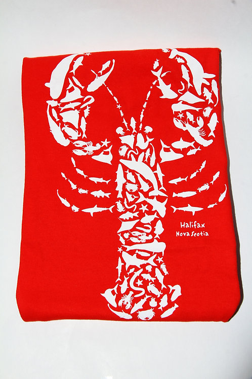 Sealife Filled in Lobster Youth Tee