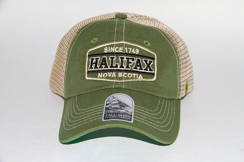 Olive Green and Beige Mesh Ball Cap