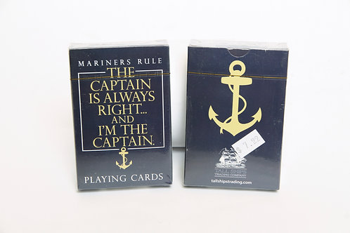 The Captain is always right...Playing Cards