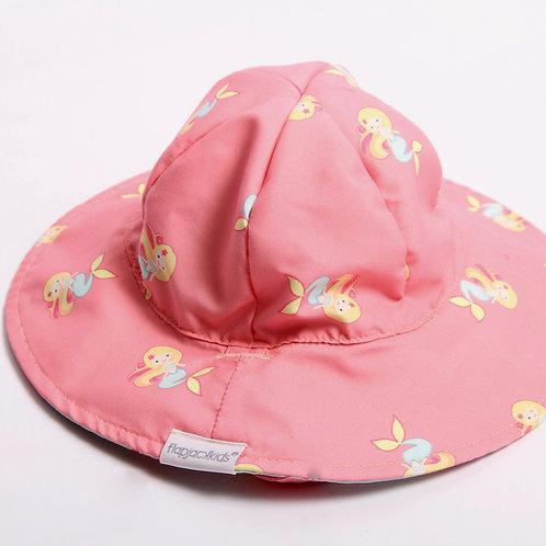 Reversible Hat w Mermaids & Seahorses