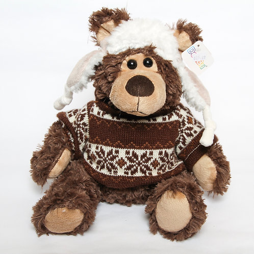 Bear Stuffie with Hat & Sweater