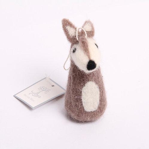 Wool Deer Christmas Ornament